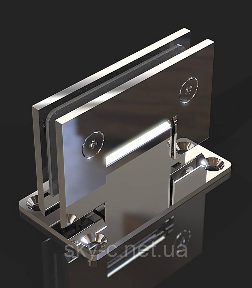 Петля для душевых кабин Стена-стекло  90°