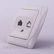Розетка телефонная VI-KO Carmen скрытой установки (белая)