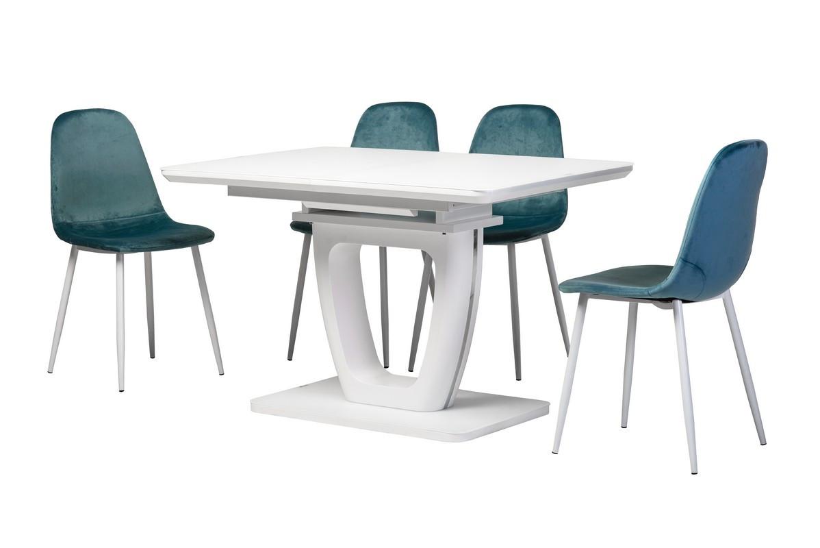 Раздвижной стол ТМL-560 матовый белый Vetro Mebel 120/160 (бесплатная доставка)