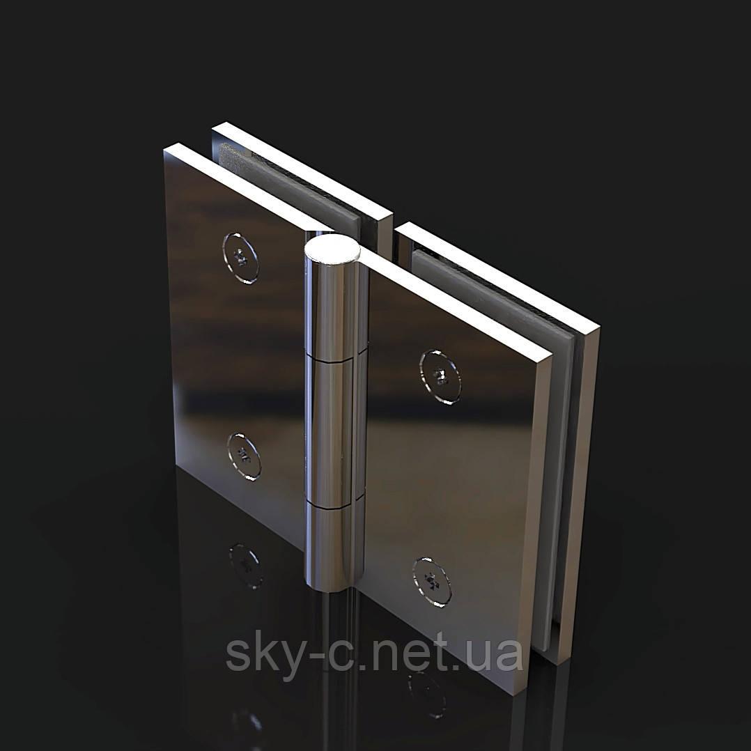 Петля для душевых кабин Стекло-стекло   0-180°