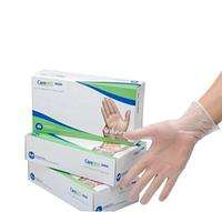 Защитные виниловые перчатки Care365 неопудренные | Размер S, M, L (Z)