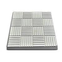Плитка тротуарная Печенье 30х30х3 см, серая