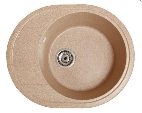 Кухонная мойка гранитная круглая с крылом Galati Voce Piesok (301)