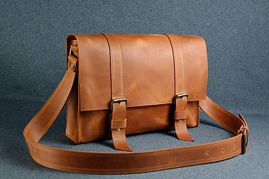 Шкіряна чоловіча сумка Кемерон, натуральна Вінтажна шкіра колір коричневый, оттенок Коньяк
