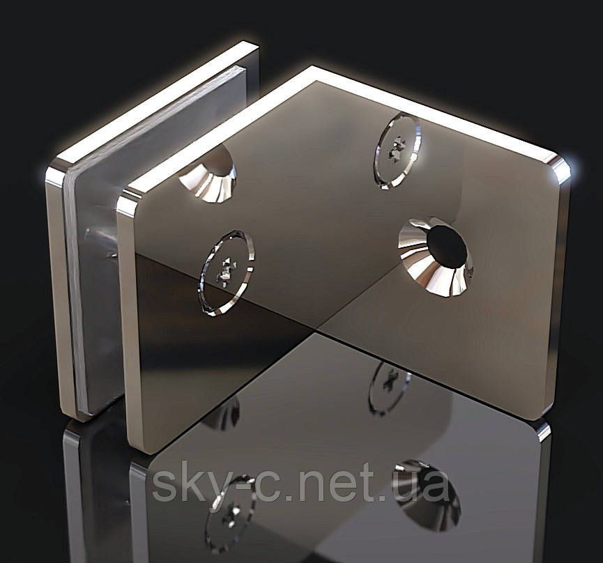 Крепление для стекла Стена-стекло  90°