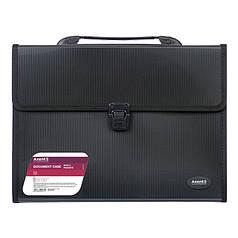 Портфель Axent 1601-01-A, А4, 3 отделения, чёрный