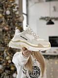 Жіночі кросівки Balenciaga Triple S в стилі Баленсіага Тріпл З БІЛІ БАГАТОШАРОВА ПІДОШВА (Репліка ААА+), фото 7