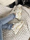 Жіночі кросівки Balenciaga Triple S в стилі Баленсіага Тріпл З БІЛІ БАГАТОШАРОВА ПІДОШВА (Репліка ААА+), фото 3
