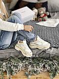 Жіночі кросівки Balenciaga Triple S в стилі Баленсіага Тріпл З БІЛІ БАГАТОШАРОВА ПІДОШВА (Репліка ААА+), фото 5