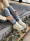 Жіночі кросівки Balenciaga Triple S в стилі Баленсіага Тріпл З БІЛІ БАГАТОШАРОВА ПІДОШВА (Репліка ААА+), фото 6