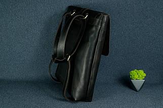 Рюкзак Трансформер, Шкіра Італійський краст, колір Кави, фото 3