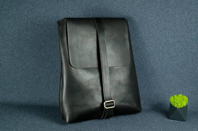 Рюкзак Трансформер, Шкіра Італійський краст, колір Кави, фото 2