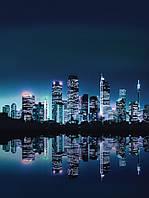 Фотообои 184x254 см Зеркальный город Нью-Йорк (051P4A)