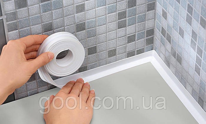Лента бордюрная уплотнительная герметизирующая для ванной заделки швов ширина 28мм длина 3,2м