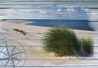Фотообои 254x184 см Морской пляж на досках (10025P4)