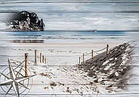 Фотообои 368x254 см Море, пляж на досках (10028P8)