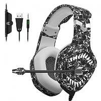 Ігрові навушники гарнітура з підсвічуванням Onikuma K1B Pro LED