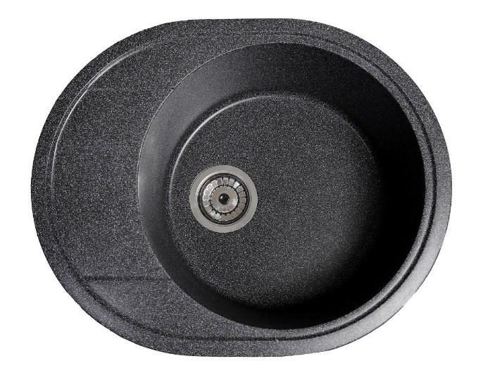 Кухонная мойка гранитная круглая с крылом Galati Voce Grafit (201)