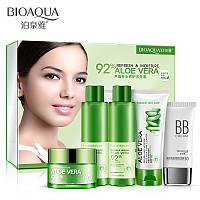 Подарунковий набір з алое віра Bioaqua Aloe Vera 92% Refresh & Moisture (5 предметів)