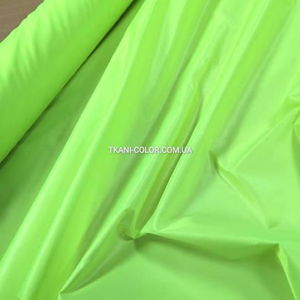 Плащевая ткань лаке ярко- салатовая, фото 2