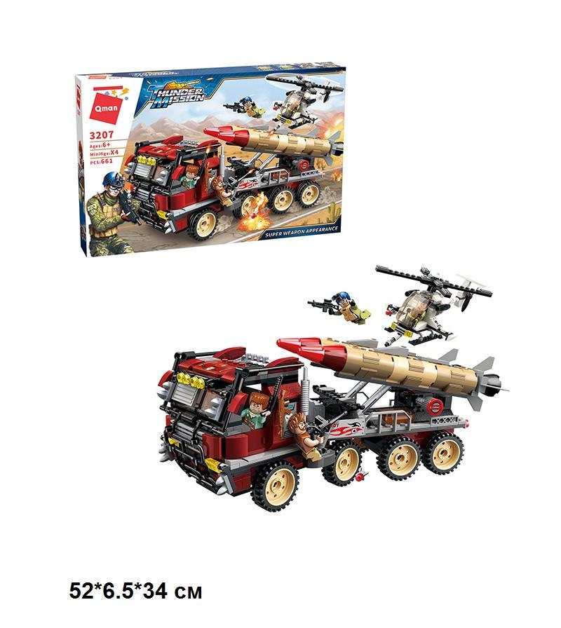 Конструктор Brick Військова машина 661 деталей в коробці 3207