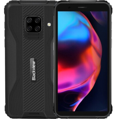 "Смартфон Blackview BV5100 4/128GB Black, 16+2+2+2/13Мп, IP68, 8 ядра, 2sim, 5.7"" IPS, 4G, 5580mAh, Helio A25"
