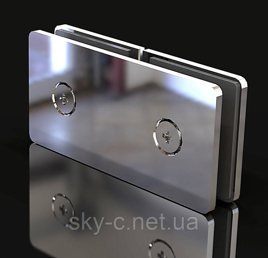 Крепление для стекла Стекло-стекло  180°