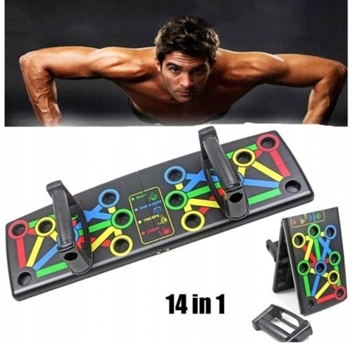 Доска для отжиманий Push Up Rack Board MJ - 040 / Упоры от пола / Тренажер для упражнений