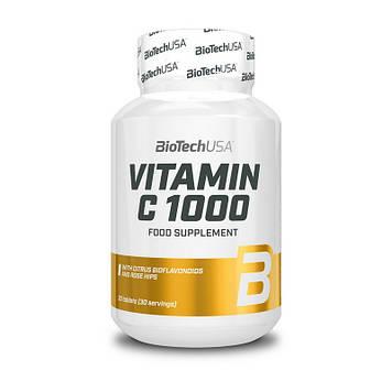 Витамин Ц + лимон и шиповник BioTech Vitamin C 1000 with citrus bioflavonoids and rose hips 1000 (30 tabs)