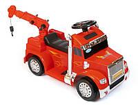 Детский грузовой электромобиль. Мальчикам от 3 лет. Мотор 18W. Прочный пластик. Магнитола. Красный. ZPV118BR-3