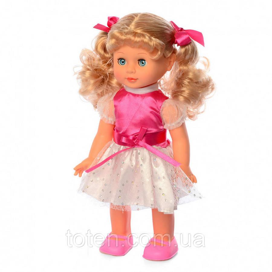 Інтерактивна лялька 33 см Даринка 10 фраз. загадки, співає, ходить, реагир на бавовну M 3883-2 S UA Т