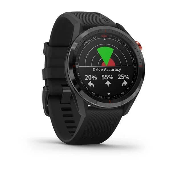 Умные часы для гольфа Garmin Approach S62 Black Ceramic Bezel with Black Silicone Band