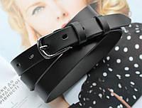 Женский узкий кожаный ремень black, фото 1