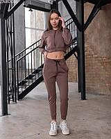 Женский спортивный костюм Staff S brown2