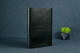 """Обкладинка для блокнот А5 """"Модель № 3"""" Шкіра Італійський краст колір Чорний, фото 3"""