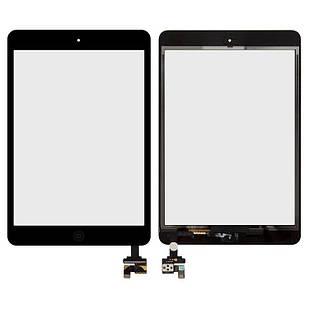 Сенсорный экран для iPad Mini, iPad Mini 2 Retina, с микросхемой, с кнопкой HOME, черный