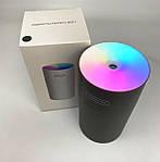 Зволожувач повітря міні Adna Humidifier DQ107 дифузор компактний,мийка повітря з підсвічуванням веселкою. Сірий, фото 7