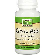 """Лимонная кислота NOW Foods, Real Food """"Citric Acid"""" чистый порошок (113 г)"""