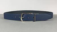 Мужской темно синий ремень Louis Vuitton (Луи Витон) арт. 61-11, фото 1