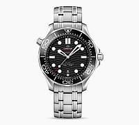 Часы OMEGA SEAMASTER CO‑AXIAL MASTER CHRONOMETER 42 MM BLACK SILVER. REPLICA: VIP