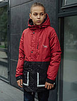 Детская куртка Staff treck bordo & black