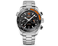 Годинник Omega Seamaster PLANET OCEAN 600M 45mm Chronograph Silver/Black/Orange. Репліка: Elite., фото 1