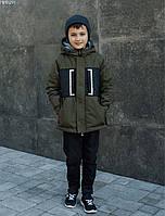 Детская куртка Staff M black & khaki