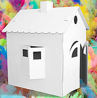 Великий і міцний картонний будиночок для ігор і розмальовок