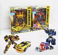 Трансформеры Оптимус Прайм и Бамблби Детская игрушка робот Трансформер для мальчика Робот трансформер