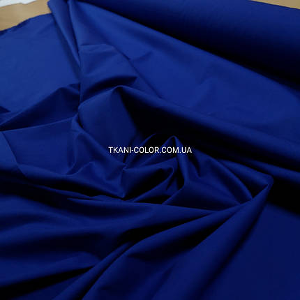 Ткань рубашечная поплин стрейч электрик, фото 2