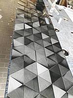 Стеклянная панель для кухни с фотопечатью треугольников 1