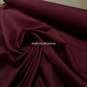 Ткань рубашечная поплин стрейч бордовый