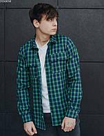 Рубашка Staff green & navy