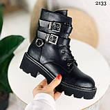 Женские ботинки ДЕМИ черные с ремешками эко- кожа весна/ осень, фото 2